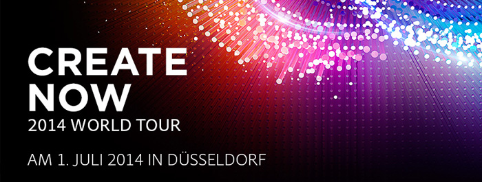 Adobe Create now 2014 World Tour Promo Image