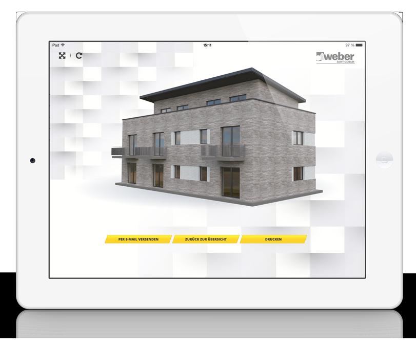 Saint Gobain Weber Fassadenkonfigurator Mehrfamilienhaus Modern Vollbild