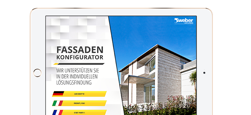 Neue dreisprachige iPad-App für Saint-Gobain Weber Schweiz