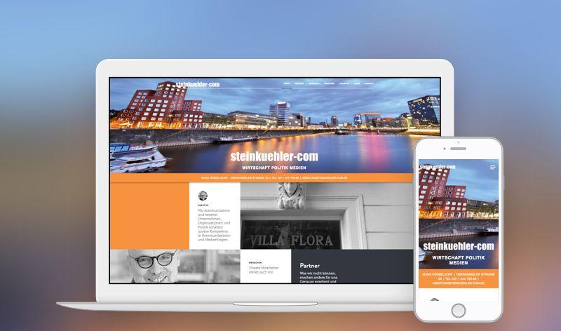 Steinkuehler-com Relaunch Mockup